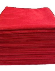 red microfiber cleaning cloth